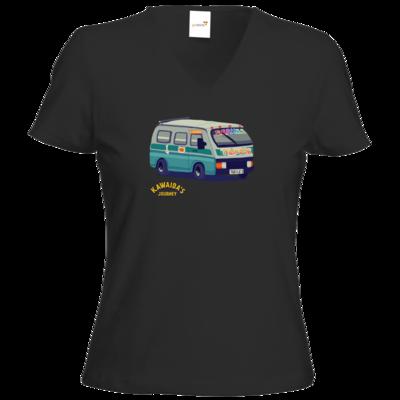 Motiv: T-Shirt Damen V-Neck Classic - Kawaida's Journey - Dala Dala