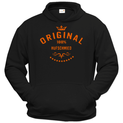 Motiv: Hoodie Classic - Original 100 Prozent Hufschmied - orange
