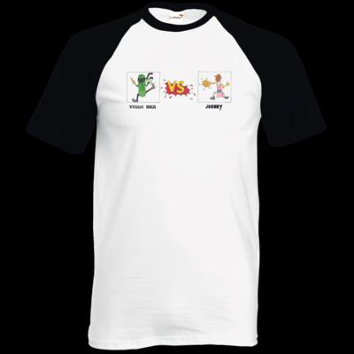 Motiv: TShirt Baseball - Veggie Ninja VS Johnny