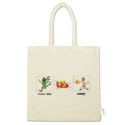 Motiv: Baumwolltasche - Veggie Ninja VS Johnny