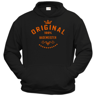 Motiv: Hoodie Classic - Original 100 Prozent Bademeister - orange