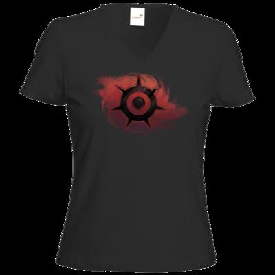 Motiv: T-Shirt Damen V-Neck Classic - Götter und Dämonen - Dämonenkrone