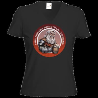 Motiv: T-Shirt Damen V-Neck Classic - Sprüche - Zwergenbier