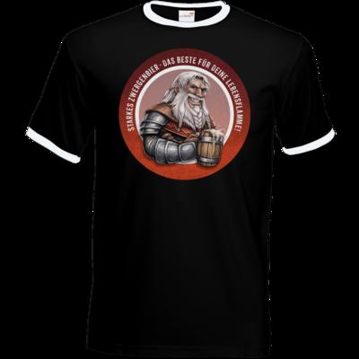 Motiv: T-Shirt Ringer - Sprüche - Zwergenbier