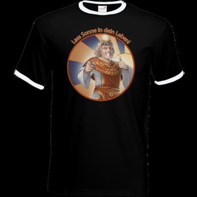 Motiv: T-Shirt Ringer - Sprüche - Götter - Praios - Lass Sonne in...