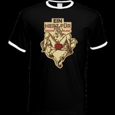 Motiv: T-Shirt Ringer - Ein Herz fuer Muschiklaus