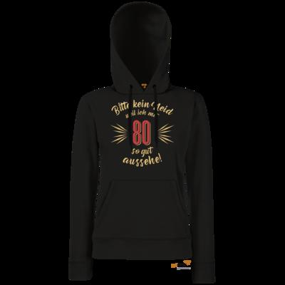 Motiv: Hoodie Damen Classic - Geburtstag 80 - Bitte kein Neid - beige