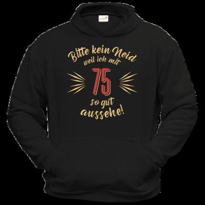Motiv: Hoodie Classic - Geburtstag 75 - Bitte kein Neid - beige