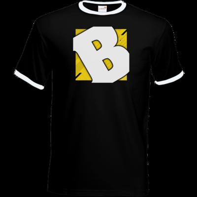 Motiv: T-Shirt Ringer - Badeschlappen - Logo