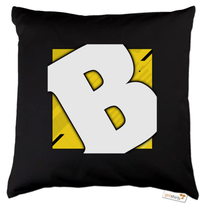 Motiv: Kissen Baumwolle - Badeschlappen - Logo