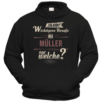 Motiv: Hoodie Classic - Wichtigere Berufe als - Müller - red creme