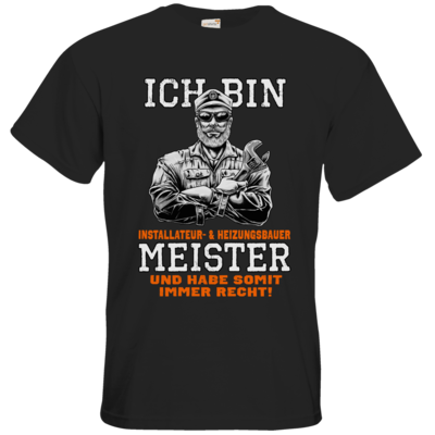 Motiv: T-Shirt Premium FAIR WEAR - Ich bin Installateur  & Heizungsbauer Meister