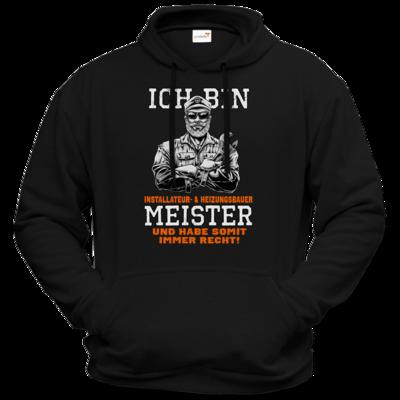 Motiv: Hoodie Premium FAIR WEAR - Ich bin Installateur  & Heizungsbauer Meister