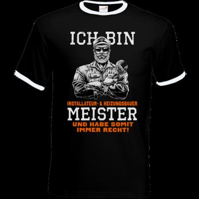 Motiv: T-Shirt Ringer - Ich bin Installateur  & Heizungsbauer Meister