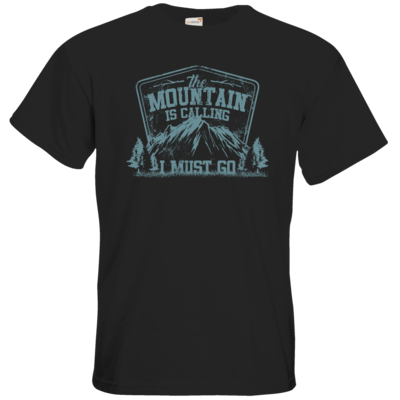 Motiv: T-Shirt Premium FAIR WEAR - Sport - Wandern - Outdoor - Mountain is calling - petrol