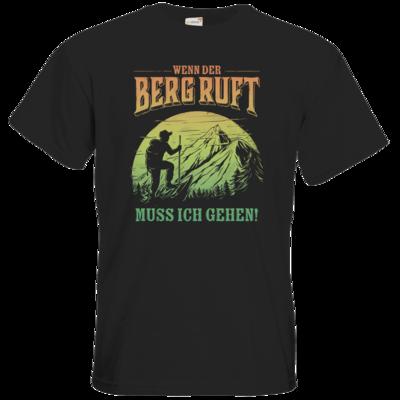 Motiv: T-Shirt Premium FAIR WEAR - Sport - Wandern - Outdoor - Der Berg ruft - farbig