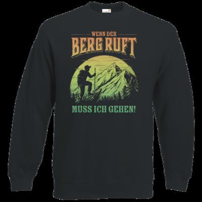 Motiv: Sweatshirt Classic - Sport - Wandern - Outdoor - Der Berg ruft - farbig