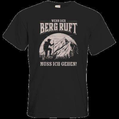 Motiv: T-Shirt Premium FAIR WEAR - Sport - Wandern - Outdoor - Der Berg ruft - uni