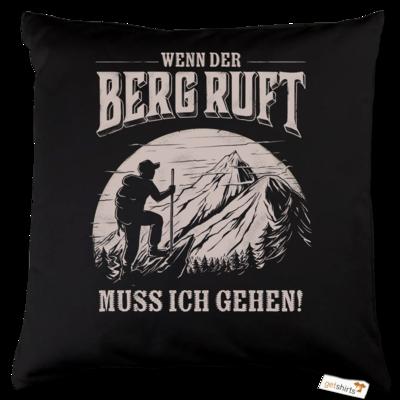 Motiv: Kissen Baumwolle - Sport - Wandern - Outdoor - Der Berg ruft - uni