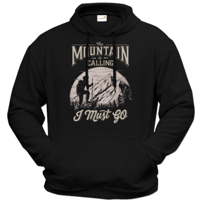 Motiv: Hoodie Premium FAIR WEAR - Sport - Wandern - Outdoor - Mountain is calling - hell