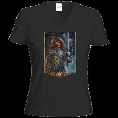Motiv: T-Shirts Damen V-Neck FAIR WEAR - Götter - Rondra