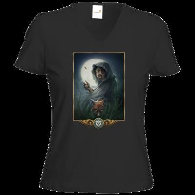 Motiv: T-Shirts Damen V-Neck FAIR WEAR - Götter - Phex