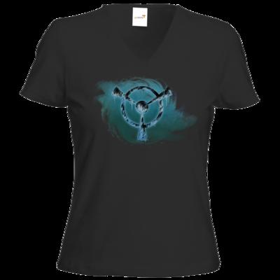 Motiv: T-Shirts Damen V-Neck FAIR WEAR - Götter und Dämonen - Namenloser Frost