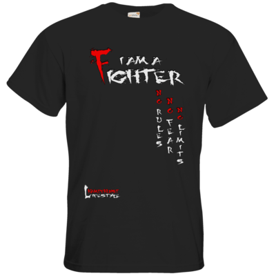 Motiv: T-Shirt Premium FAIR WEAR - Kampfkunst Lifestyle - I am a Fighter
