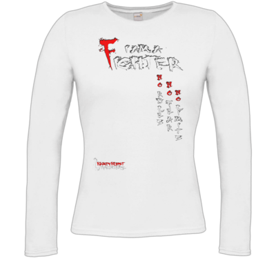 Motiv: Longsleeve Damen FAIR WEAR - Kampfkunst Lifestyle - I am a Fighter
