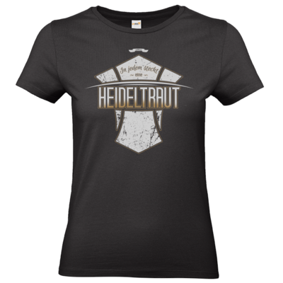 Motiv: T-Shirt Damen Premium FAIR WEAR - Heidelwurst Merch - Heideltraut - Slogan