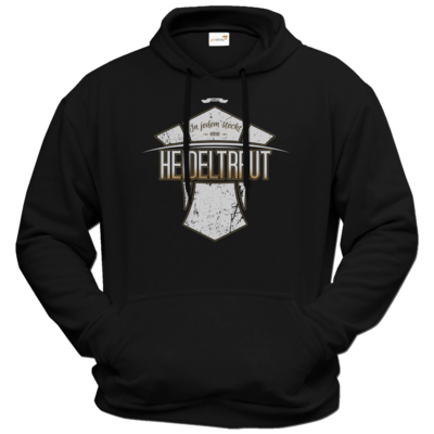 Motiv: Hoodie Premium FAIR WEAR - Heidelwurst Merch - Heideltraut - Slogan