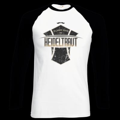 Motiv: Longsleeve Baseball T - Heidelwurst Merch - Heideltraut - Slogan