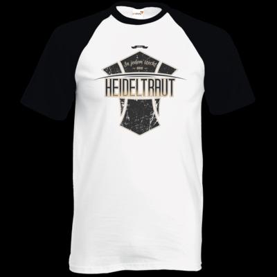 Motiv: TShirt Baseball - Heidelwurst Merch - Heideltraut - Slogan