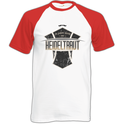 Motiv: Baseball-T FAIR WEAR - Heidelwurst Merch - Heideltraut - Slogan