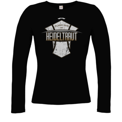 Motiv: Longsleeve Damen FAIR WEAR - Heidelwurst Merch - Heideltraut - Slogan