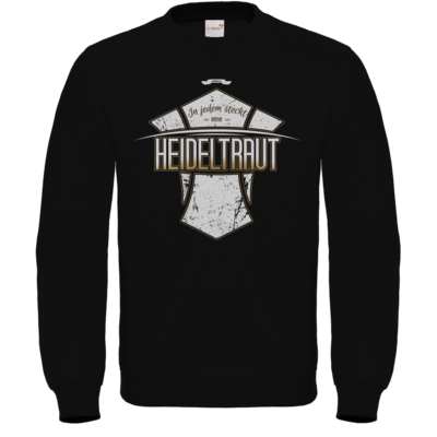 Motiv: Sweatshirt FAIR WEAR - Heidelwurst Merch - Heideltraut - Slogan