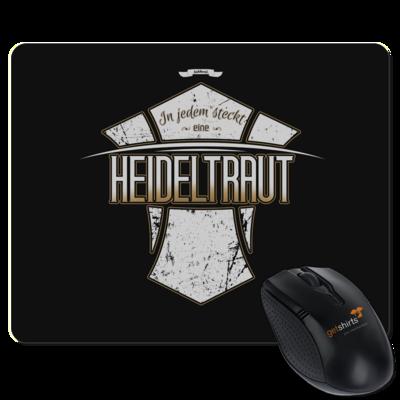Motiv: Mousepad Textil - Heidelwurst Merch - Heideltraut - Slogan