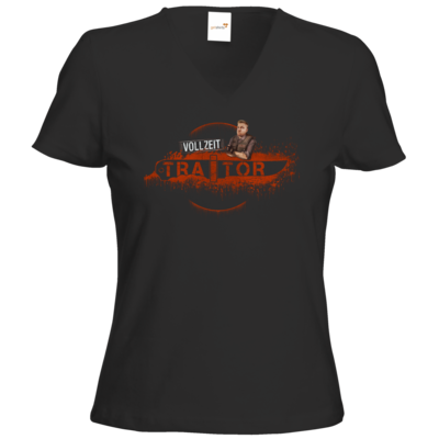 Motiv: T-Shirt Damen V-Neck Classic - Heidelwurst Merch - Curry - Vollzeit Traitor