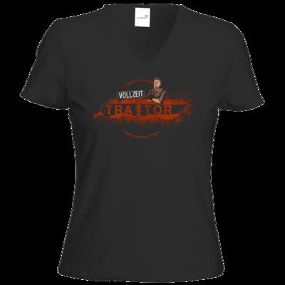 Motiv: T-Shirt Damen V-Neck Classic - Heidelwurst Merch - Curry - Vollzeit Traitor