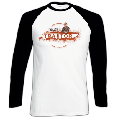 Motiv: Longsleeve Baseball T - Heidelwurst Merch - Curry - Vollzeit Traitor