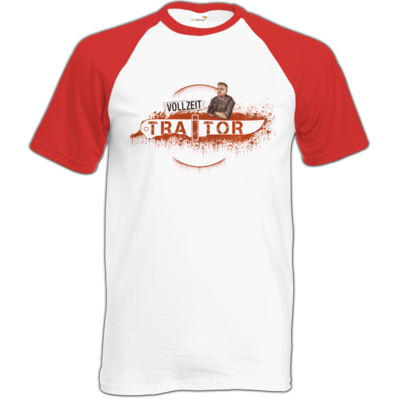 Motiv: Baseball-T FAIR WEAR - Heidelwurst Merch - Curry - Vollzeit Traitor
