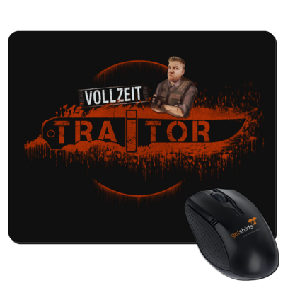 Motiv: Mousepad Textil - Heidelwurst Merch - Curry - Vollzeit Traitor