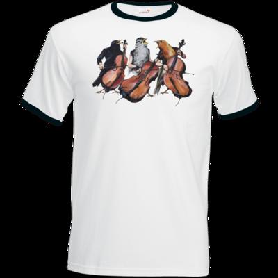 Motiv: T-Shirt Ringer - Vogelmenschen - Akopalützika