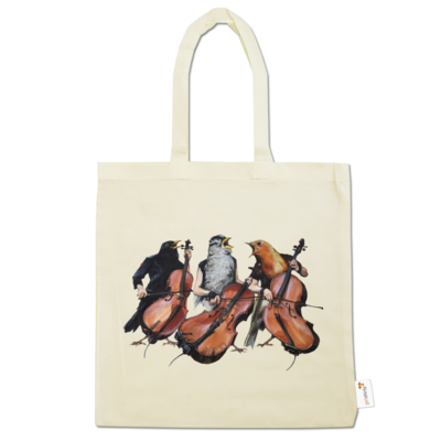 Motiv: Baumwolltasche - Vogelmenschen - Akopalützika