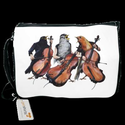Motiv: Schultertasche - Vogelmenschen - Akopalützika