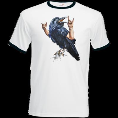 Motiv: T-Shirt Ringer - Vogelmenschen - Wacköön