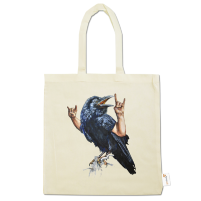 Motiv: Baumwolltasche - Vogelmenschen - Wacköön