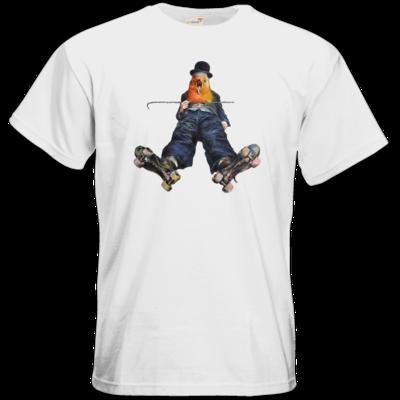 Motiv: T-Shirt Premium FAIR WEAR - Vogelmenschen - Chaplinfink