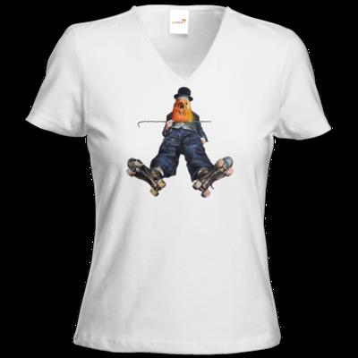 Motiv: T-Shirt Damen V-Neck Classic - Vogelmenschen - Chaplinfink