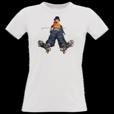 Motiv: T-Shirt Damen Premium FAIR WEAR - Vogelmenschen - Chaplinfink